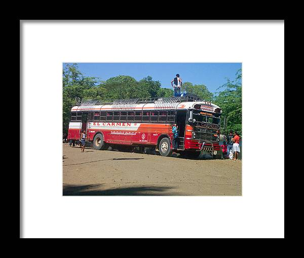 Nicaragua Framed Print featuring the photograph Local Bus by Erick