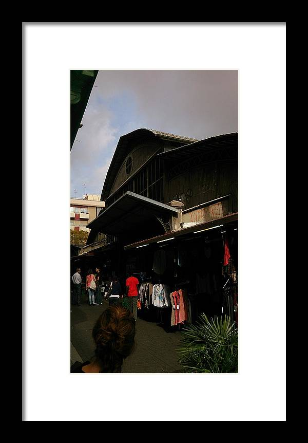 Local Framed Print featuring the photograph Local Market by Moshe Harboun