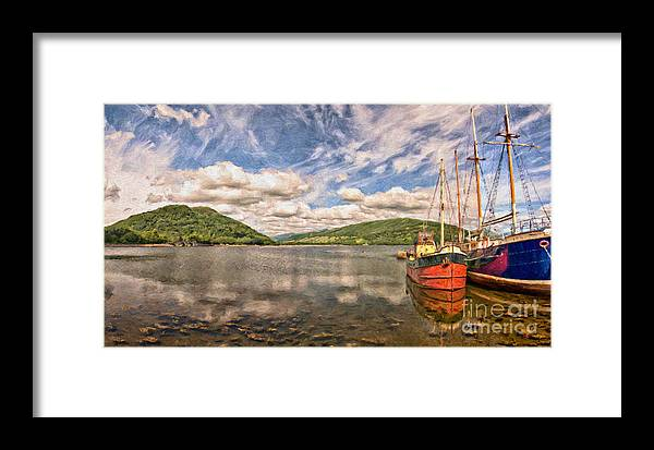 Vital Framed Print featuring the painting Loch Fyne Digital Painting by Antony McAulay