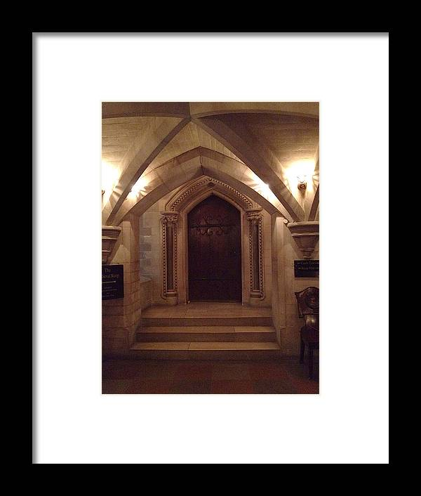 Photograph Framed Print featuring the photograph Locked Door by Nicole Parks