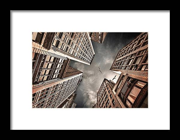 Buildings Framed Print featuring the photograph Locked In Civilization by Carmit Rozenzvig