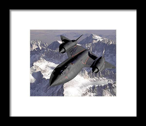 Aircraft Framed Print featuring the photograph Lockheed Sr-71 Blackbird by Tilen Hrovatic