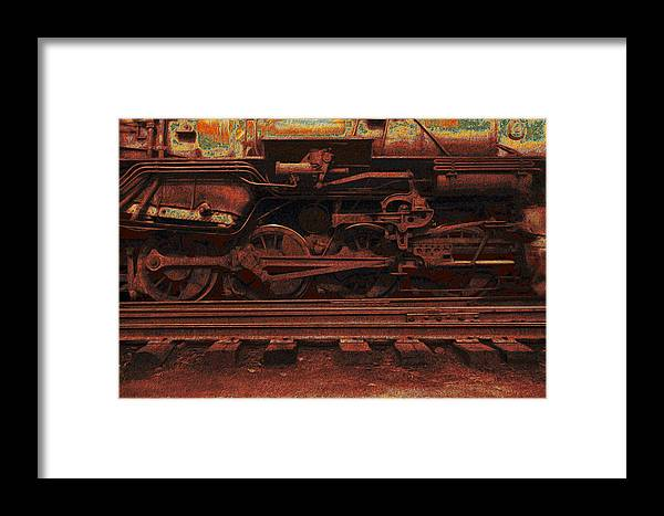 Accelerate Framed Print featuring the painting Locomotion 2 by Jack Zulli