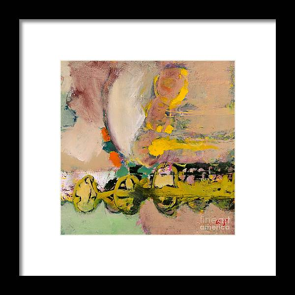 Landscape Framed Print featuring the painting Locomotion by Allan P Friedlander