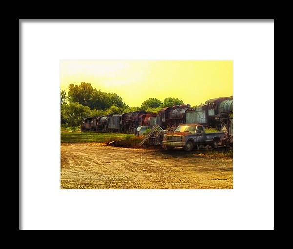 Transportation Framed Print featuring the photograph Locomotive Graveyard by Thomas Woolworth