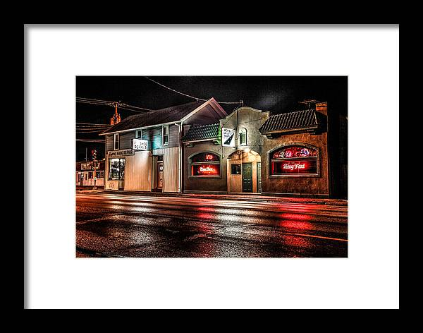 Cityscape Framed Print featuring the photograph Locust St. Tap by Ray Congrove