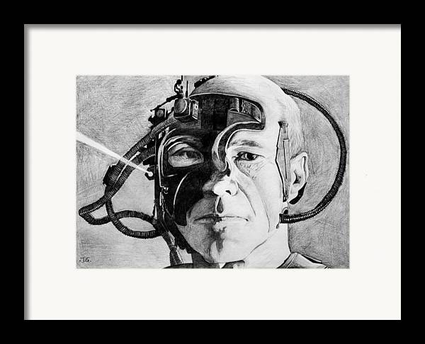 Locutus Framed Print featuring the painting Locutus by Judith Groeger