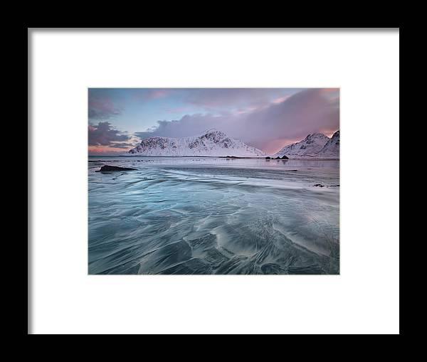 Scenics Framed Print featuring the photograph Lofoten Island Sunrise by Antonyspencer