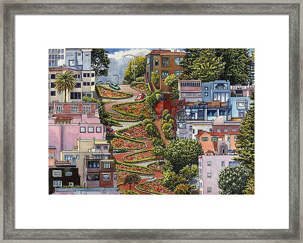 Lombard Street Framed Print By Karen Wright