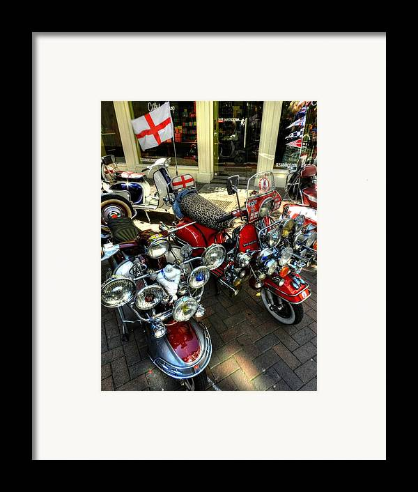 Vespa Framed Print featuring the photograph London 088 by Lance Vaughn