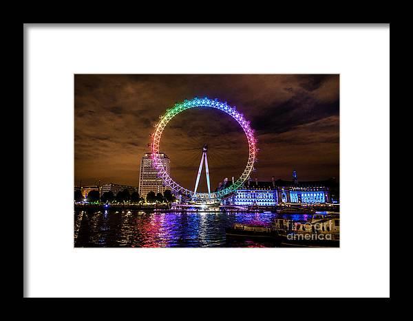 London Eye Framed Print featuring the photograph London Eye Pride by Matt Malloy