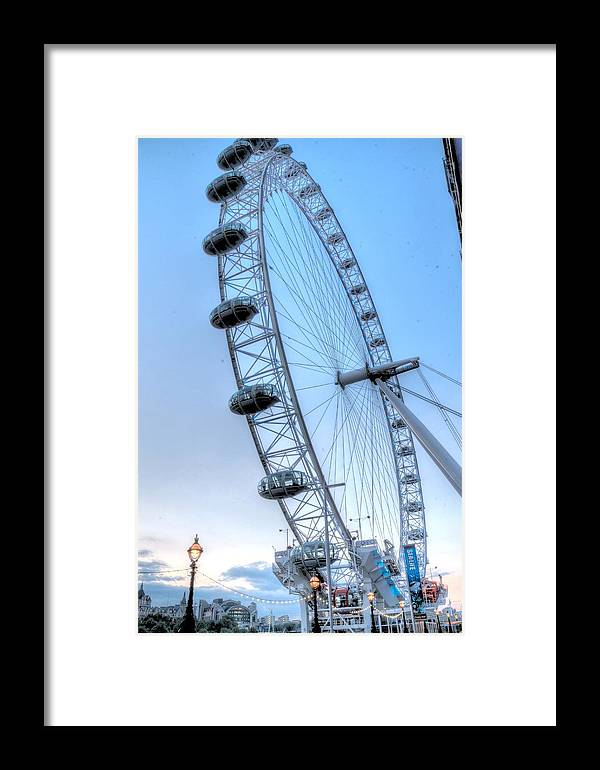 Attractions Framed Print featuring the photograph London Eye by Tony Brooks