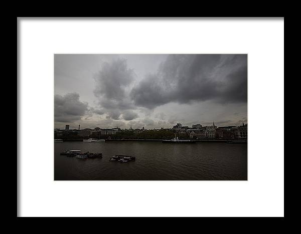 London Framed Print featuring the photograph London River View by Dawn OConnor
