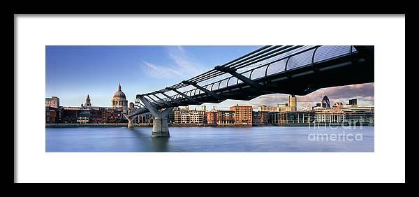 London Skyline Framed Print featuring the photograph Millennium Bridge London 1 by Rod McLean