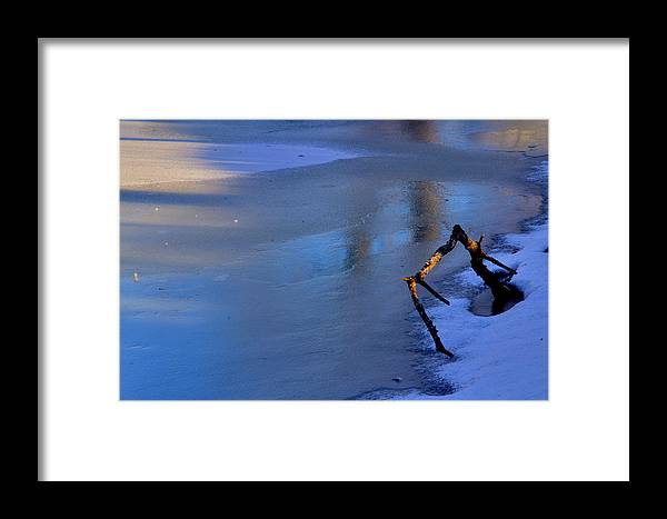 Winter Framed Print featuring the photograph Lone Branch by Jim Vance