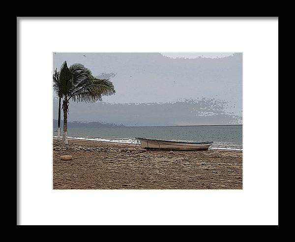 Landscape Framed Print featuring the photograph Lone Panga by Robin Stout