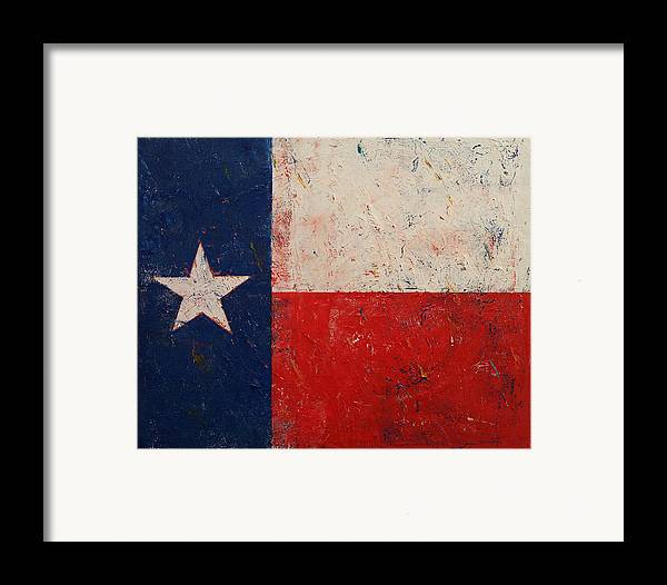 Art Framed Print featuring the painting Lone Star by Michael Creese