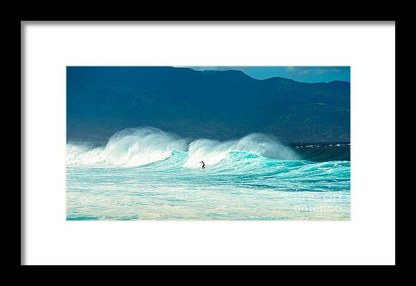 Hookipa Beach Framed Print featuring the photograph Lone Surfer by Jamie Pham