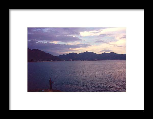 Fishing Framed Print featuring the photograph Loneliness by Duy Nguyen