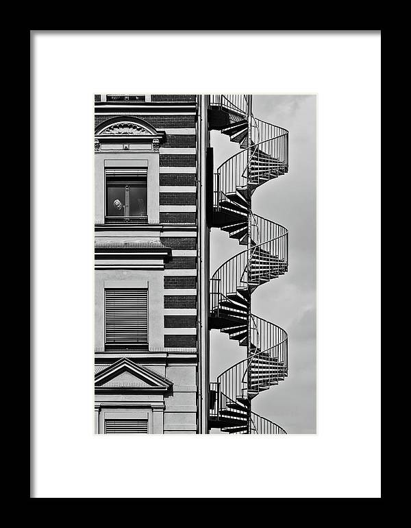 Street Framed Print featuring the photograph Lonely Man by Christian M?ller