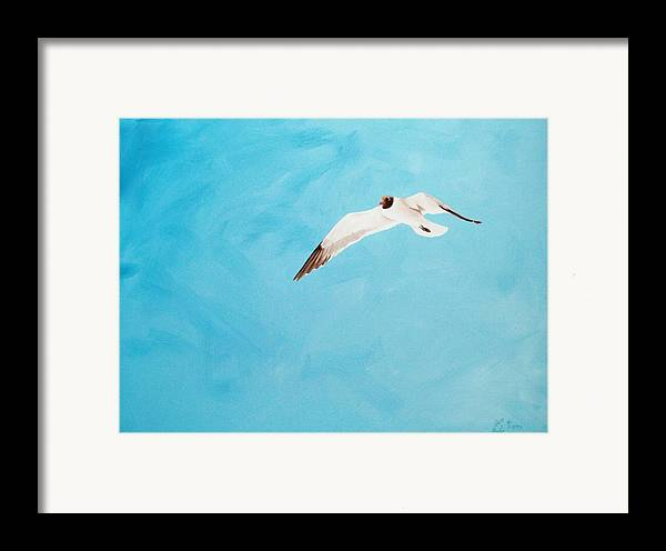 Bird Framed Print featuring the painting Loner by Scott Alcorn