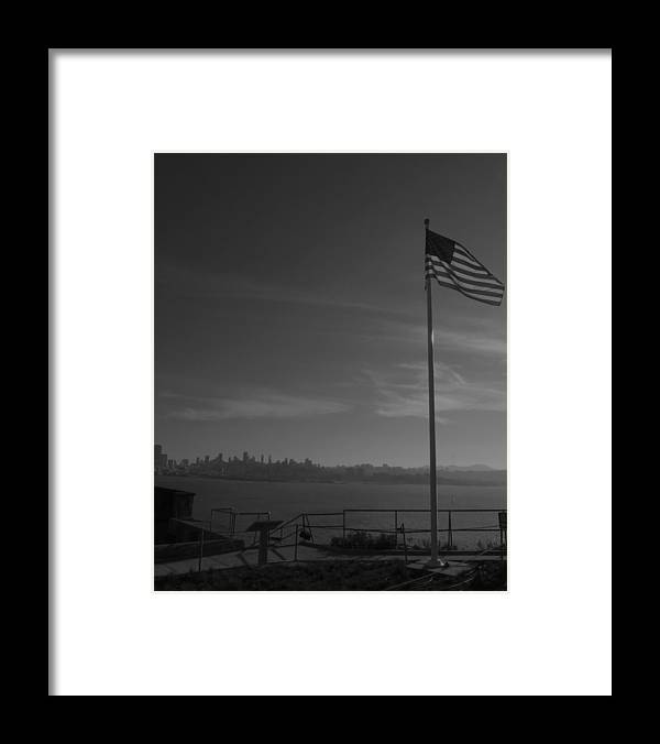 Photography Framed Print featuring the photograph Lonesome Flag by Fabien White