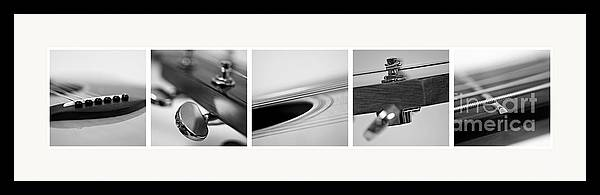Black Framed Print featuring the photograph Long As The Guitar by Priska Wettstein