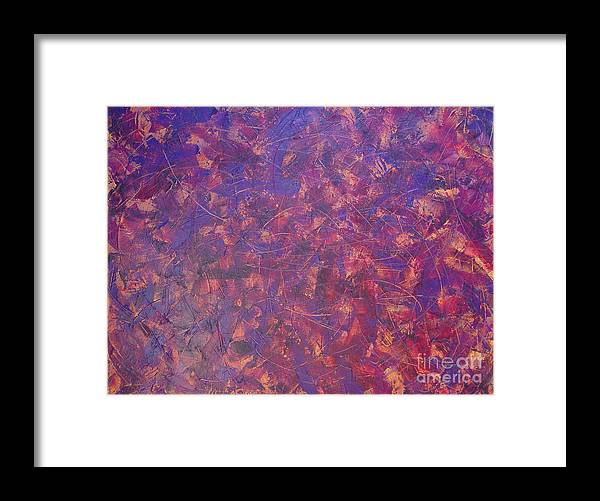 Abstract Framed Print featuring the painting Long Beach 5am by Dean Triolo