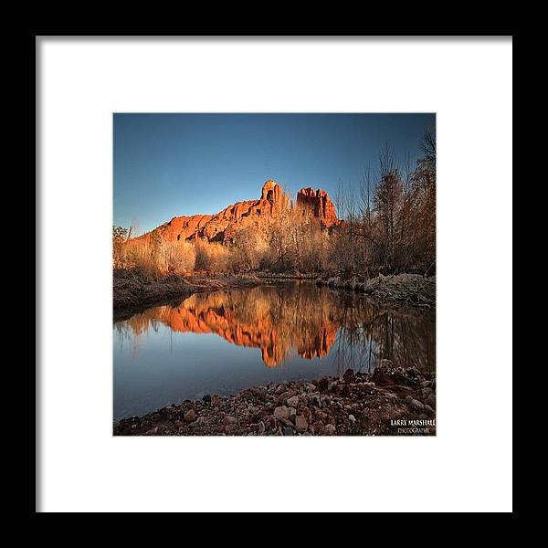 Framed Print featuring the photograph Long Exposure Photo Of Sedona by Larry Marshall