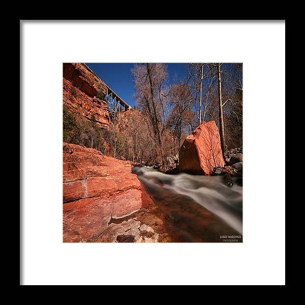 Framed Print featuring the photograph Long Exposure Photo Taken In The Oak by Larry Marshall