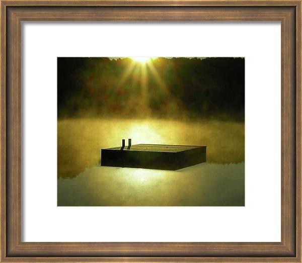 Long Pond Swimming Dock in Mist by Baratz Tom