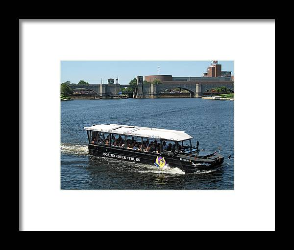 charles River Framed Print featuring the photograph Longfellow Bridget On The Charles by Barbara McDevitt