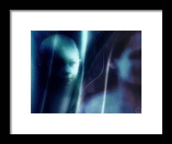 Digital Art Framed Print featuring the digital art Longing by Gun Legler