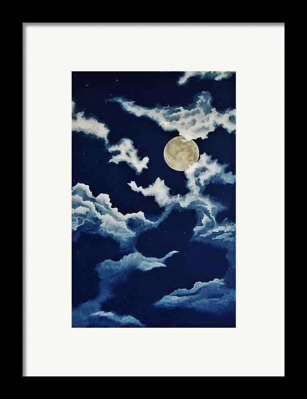 Print Framed Print featuring the painting Look At The Moon by Katherine Young-Beck