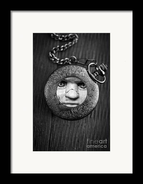 Creepy Framed Print featuring the photograph Look Behind You by Edward Fielding