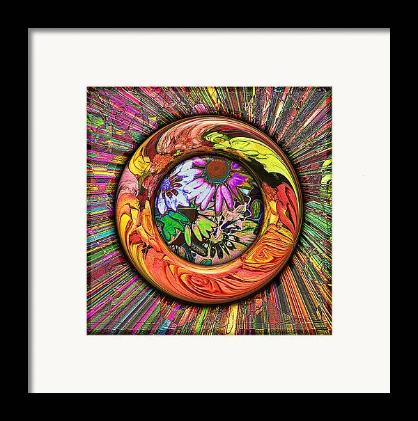 Digital Framed Print featuring the digital art Look Through Any Window by Wendy J St Christopher