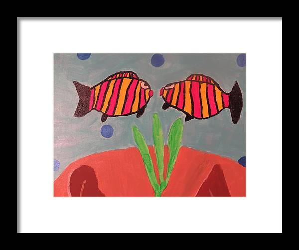 Fish Framed Print featuring the painting Looking At You by Ronald Weatherford