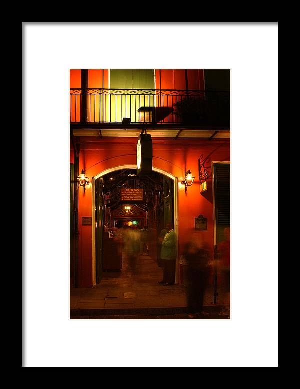 Pat O'brien's Framed Print featuring the photograph Looking In Pat O'brien's by Greg Mimbs