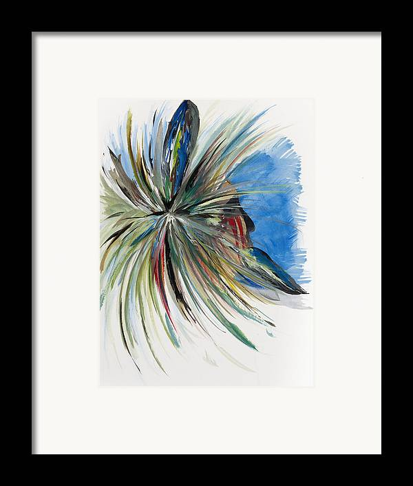 Indian Framed Print featuring the drawing Looking Out by Don Medina