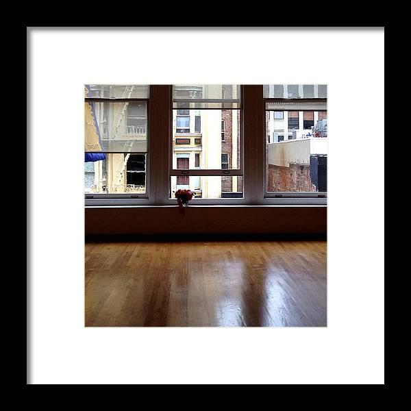 Window Framed Print featuring the photograph Looking Out by Julie Gebhardt