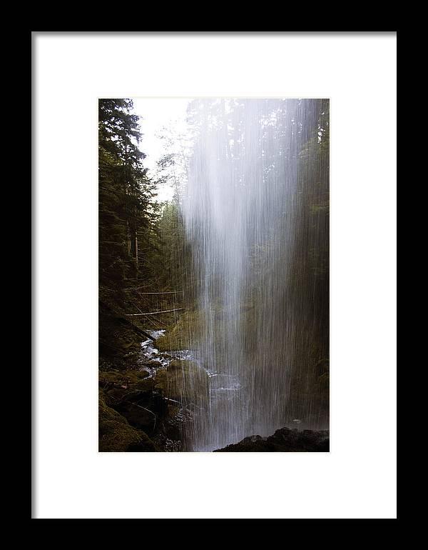 Angel Falls Framed Print featuring the photograph Looking Through Angel Falls by Edward Hawkins II