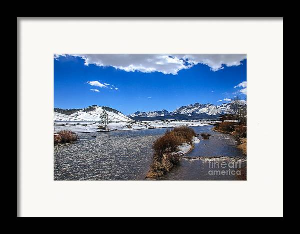 Rocky Mountains Framed Print featuring the photograph Looking Up The Salmon River by Robert Bales