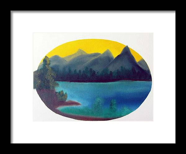 Oil Framed Print featuring the painting Loon Lake by Dan MacDonald