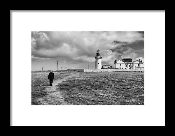 Landscape Framed Print featuring the photograph Loophead Lighthouse II by MaryGail Perkins