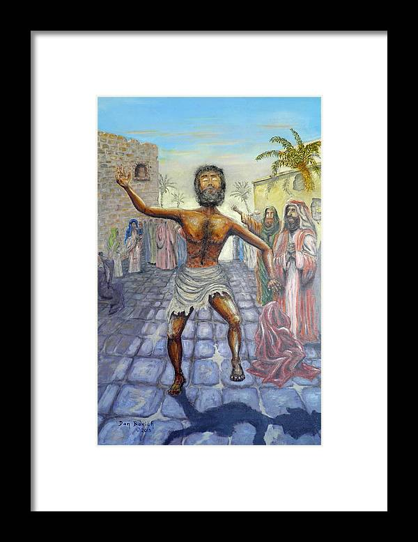 Biblical Framed Print featuring the painting Lord I want to See by Dan Bozich