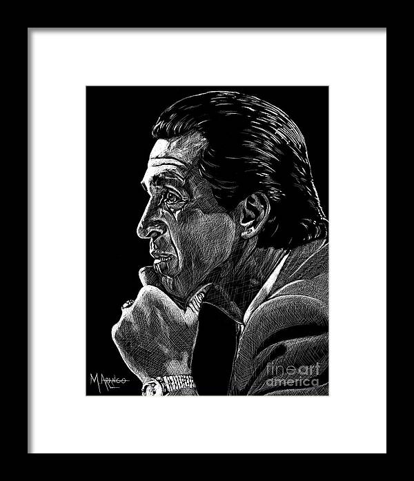 Pat Riley Framed Print featuring the drawing Lord Of The Rings by Maria Arango