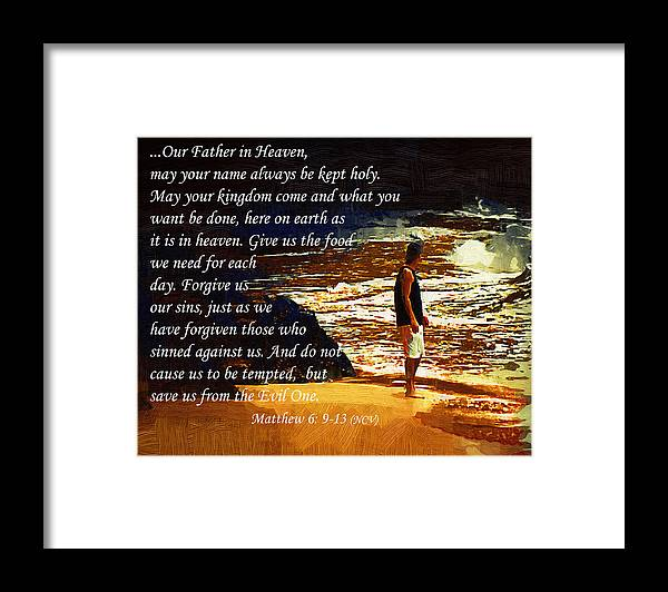 Beach Framed Print featuring the painting Lord's Prayer by Kirt Tisdale
