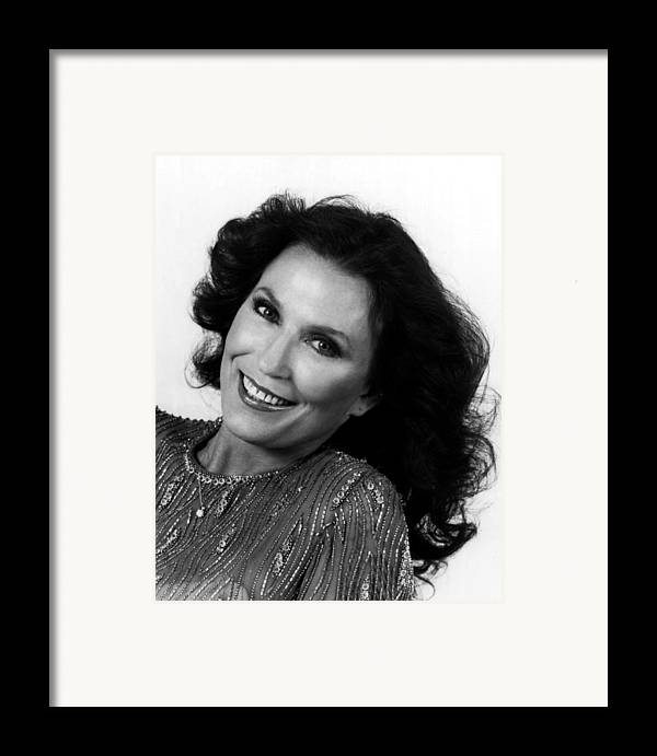 Retro Images Archive Framed Print featuring the photograph Loretta Lynn Close Up by Retro Images Archive