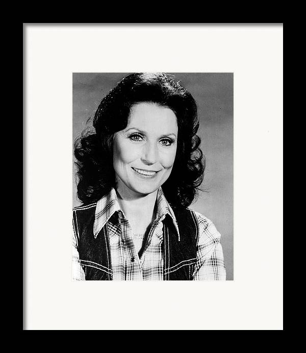 Retro Images Archive Framed Print featuring the photograph Loretta Lynn Smiling by Retro Images Archive