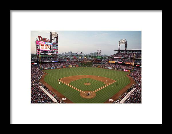 American League Baseball Framed Print featuring the photograph Los Angeles Angels Of Anaheim V by Mitchell Leff